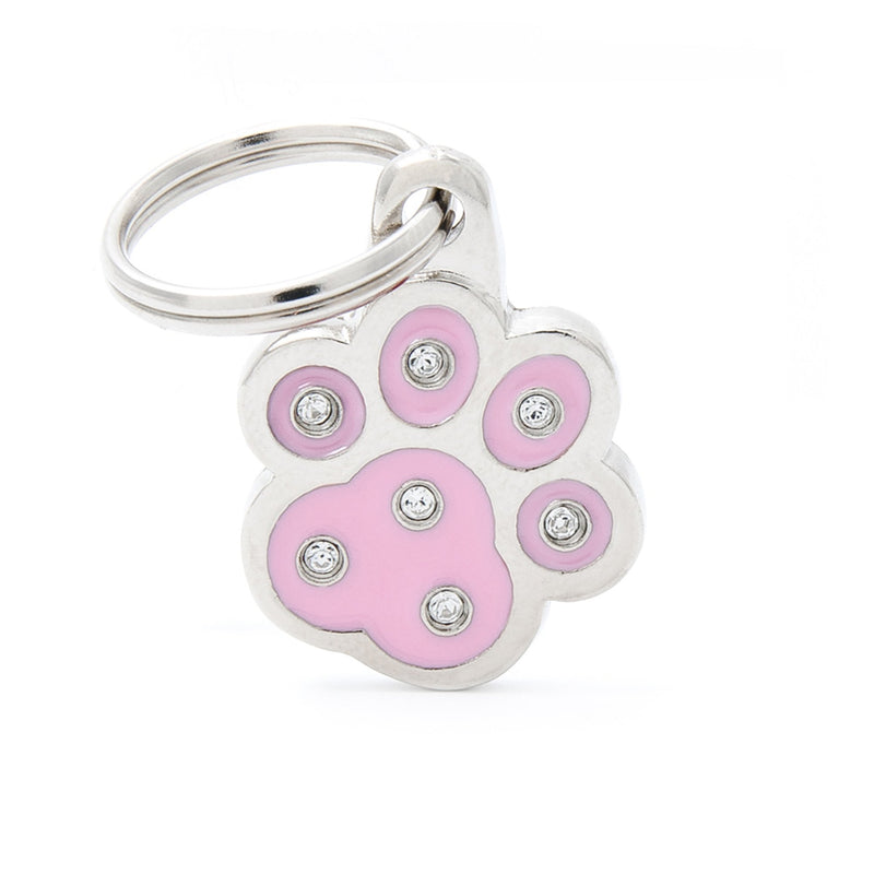 My Family Chic Pink Paw PET I.D TAG