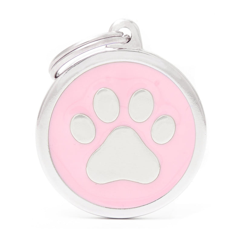 My Family Classic Pink Paw Pet I.D. Tag
