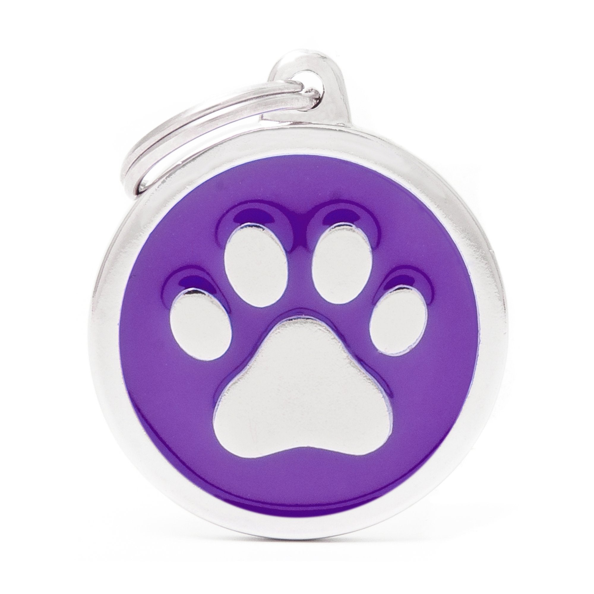 My Family Classic Purple Paw Pet I.D. Tag