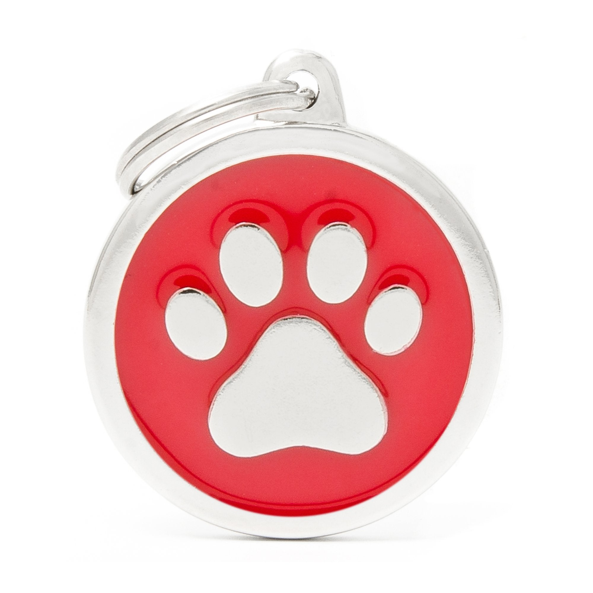 My Family Classic Red Paw Pet I.D. Tag