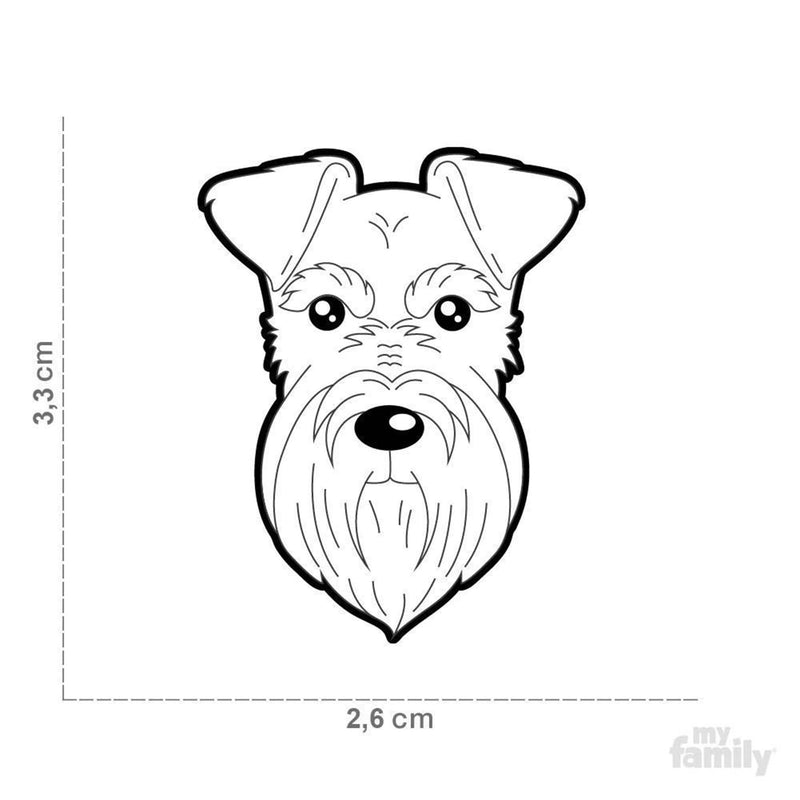 My Family Default Title Black Schnauzer Dog I.D. Tags - 3B