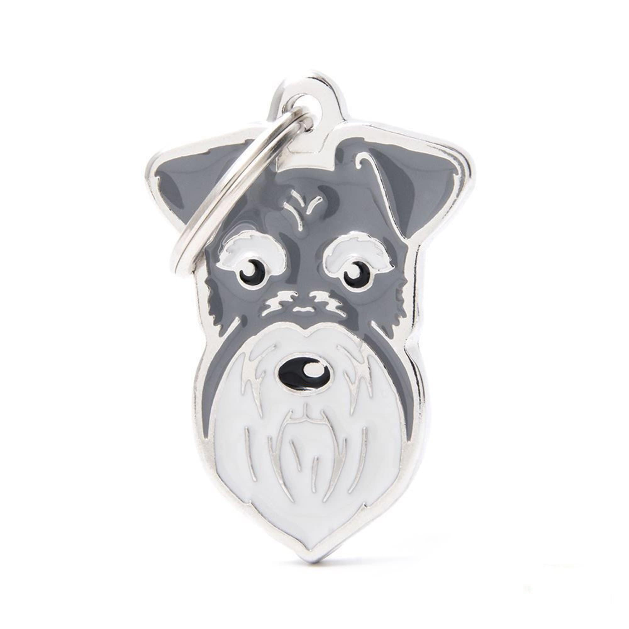 My Family Default Title New Pepper & Salt Schnauzer Dog I.D. Tags - 3B