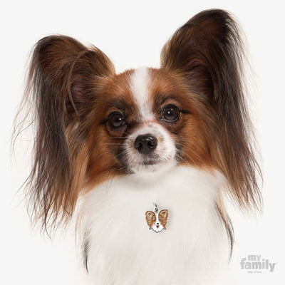 My Family Default Title Papillon Dog I.D. Tags - 2B