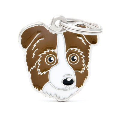 My Family Default Title Red Australian Shepherd Dog I.D. Tags - 3B