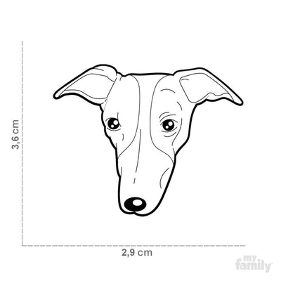 My Family Default Title Whippet Dog I.D. Tags - 2B