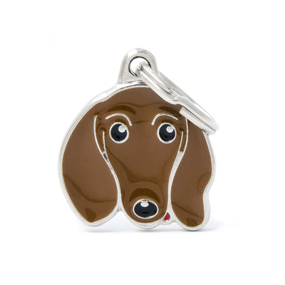 My Family Fawn Dachshund Pendant and Keychain