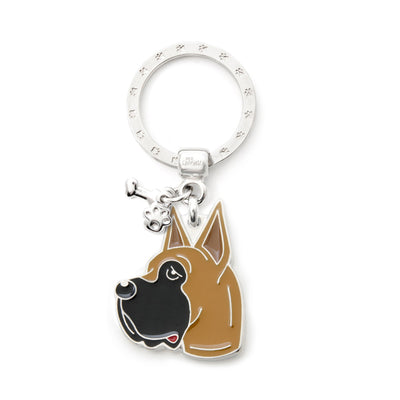 My Family Fawn Great Dane Pendant and Keychain