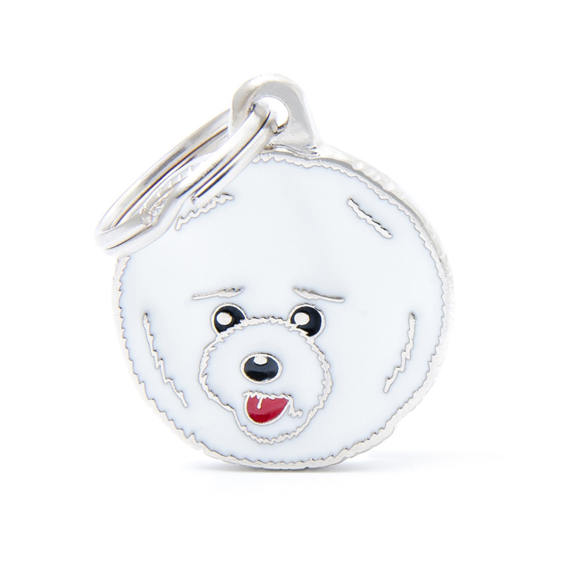My Family Friends Bichon Frise Dog I.D. Tag