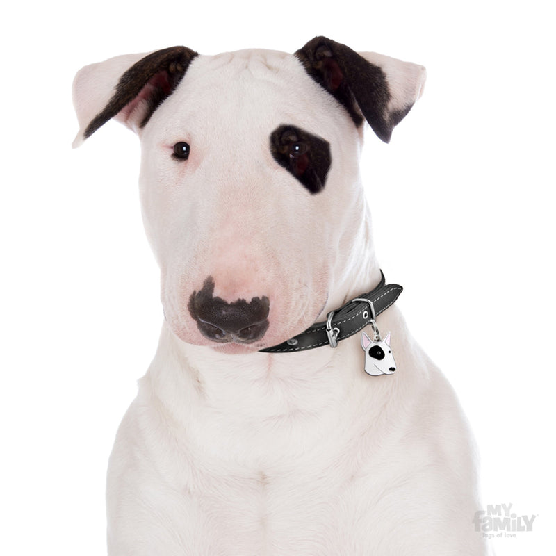 My Family Friends Black and White Bull Terrier Dog I.D. Tag