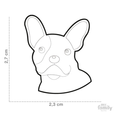 My Family Friends Fawn French Bulldog I.D. Tag