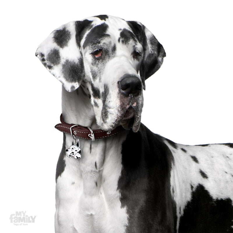 My Family Friends Harlequin Great Dane Dog I.D. Tag