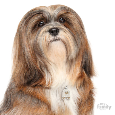 My Family Friends Lhasa Apso Dog I.D. Tag