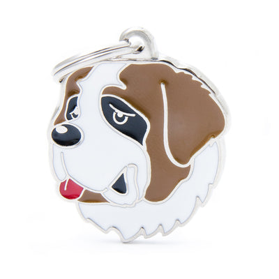 My Family Friends Saint Bernard Dog I.D. Tag