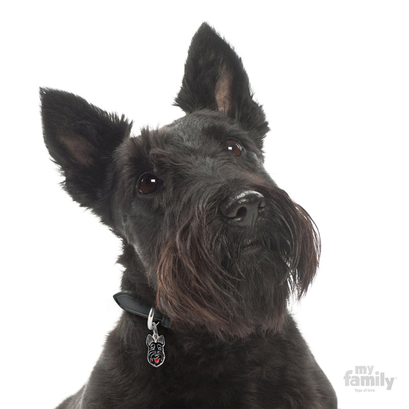 My Family Friends Scottish Terrier Dog I.D. Tag