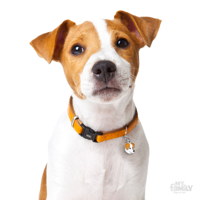 My Family Friends White & Brown Jack Russell Dog I.D. Tag