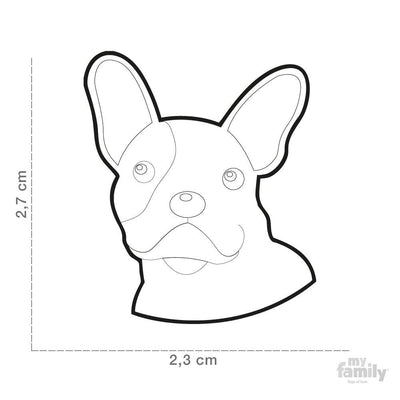 My Family Friends White French Bulldog Dog I.D. Tag