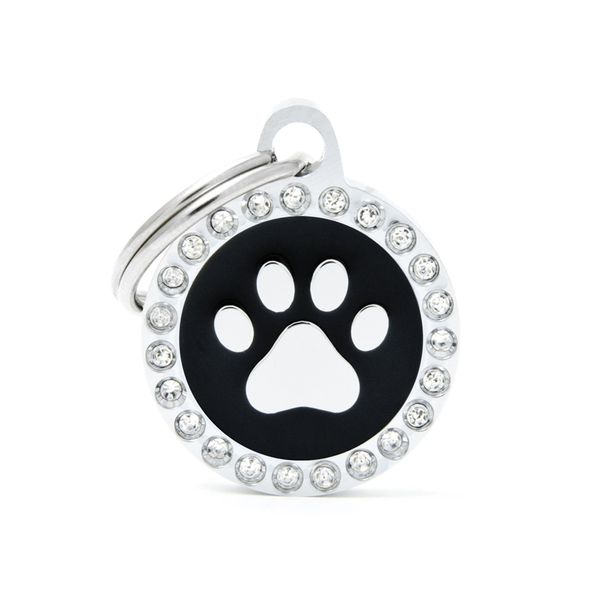 My Family Glam Black Paw Pet I.D. Tag