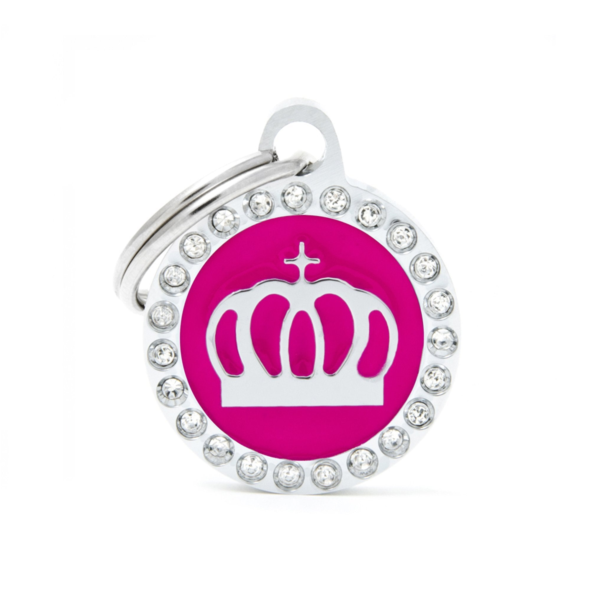 My Family Glam Fuchsia Crown Pet I.D. Tag