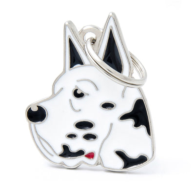 My Family Harlequin Great Dane Pendant and Keychain