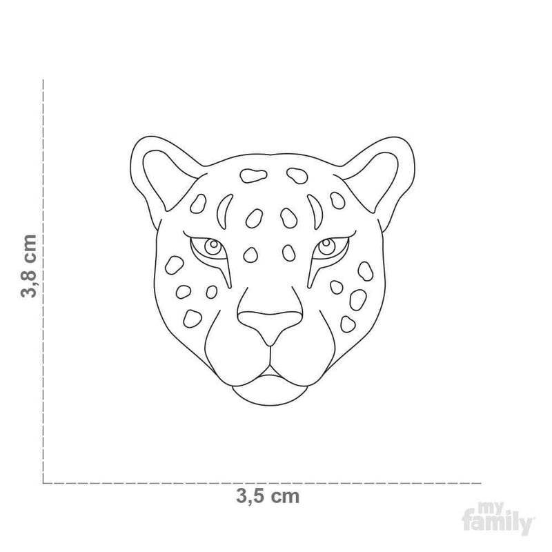 My Family Leopard Dog I.D. Tags - 3B