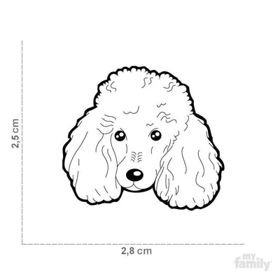 My Family New Apricot Poodle Dog I.D. Tags - 3B
