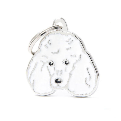 My Family New White Poodle Dog I.D. Tags - 3B