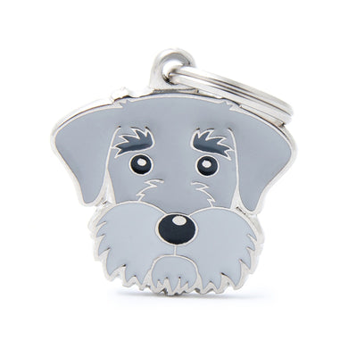My Family Pepper & Salt Schnauzer Pendant and Keychain