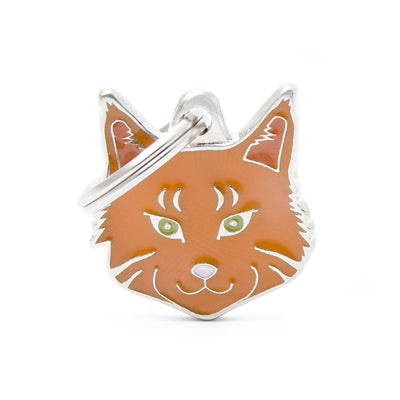 My Family Red Tabby Maine Coon Dog I.D. Tags - 2B