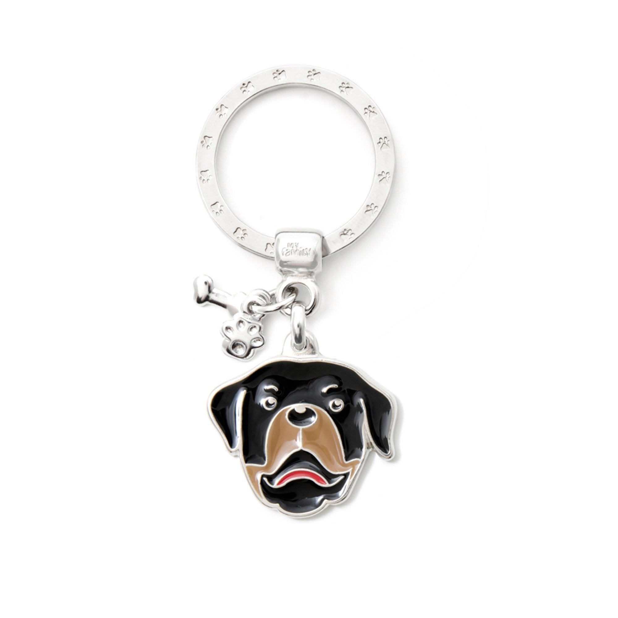 My Family Rottweiler Pendant and Keychain