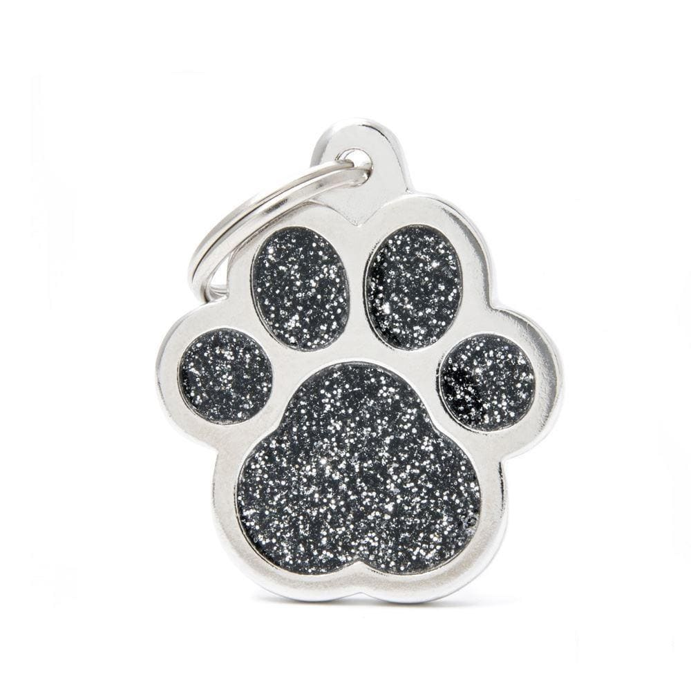 My Family Shine Black Big Paw Dog I.D. Tags - 3B