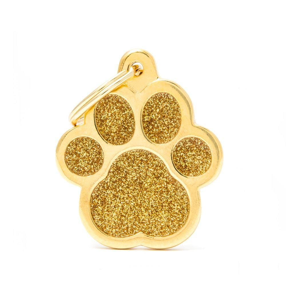 My Family Shine Gold Big Paw Dog I.D. Tags - 3B