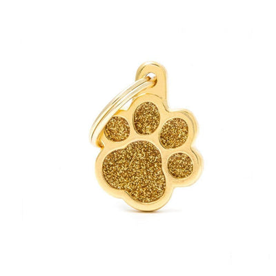 My Family Shine Gold Small Paw Dog I.D. Tags - 2B