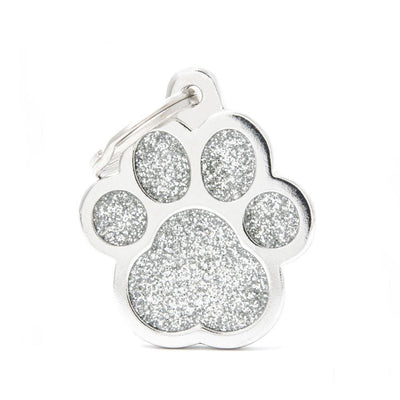 My Family Shine Grey Big Paw Dog I.D. Tags - 3B