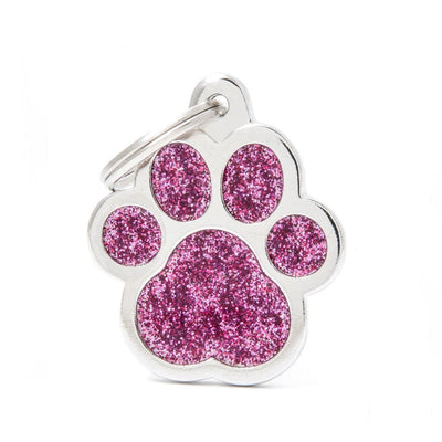 My Family Shine Pink Big Paw Dog I.D. Tags - 3B