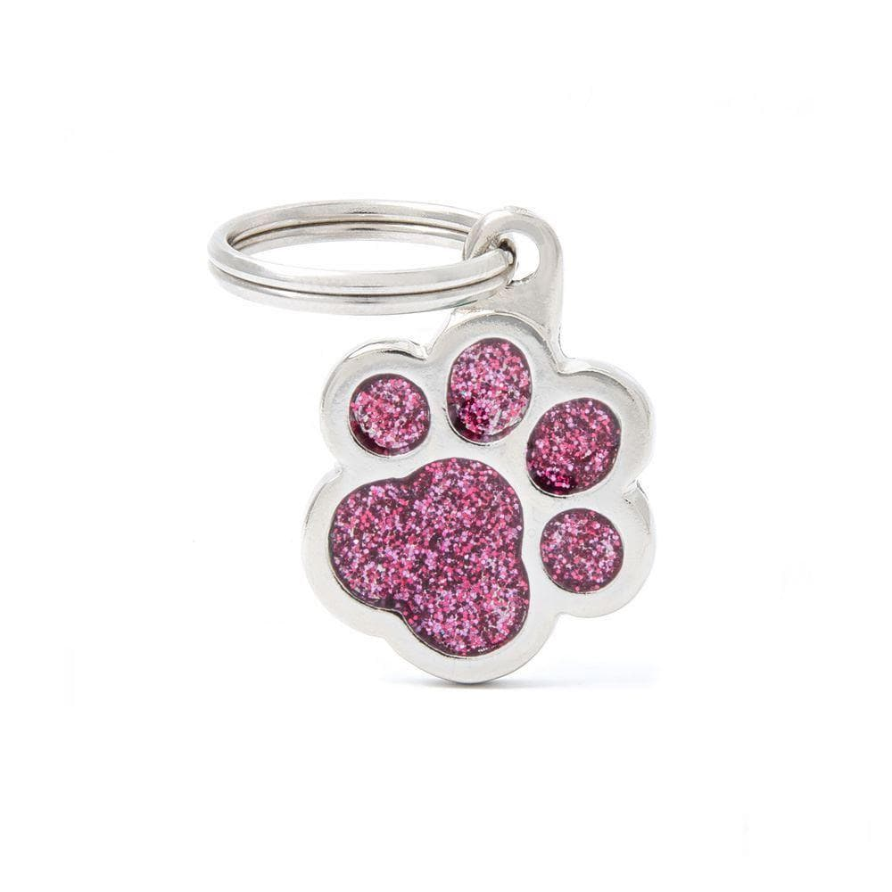 My Family Shine Pink Small Paw Dog I.D. Tags - 2B