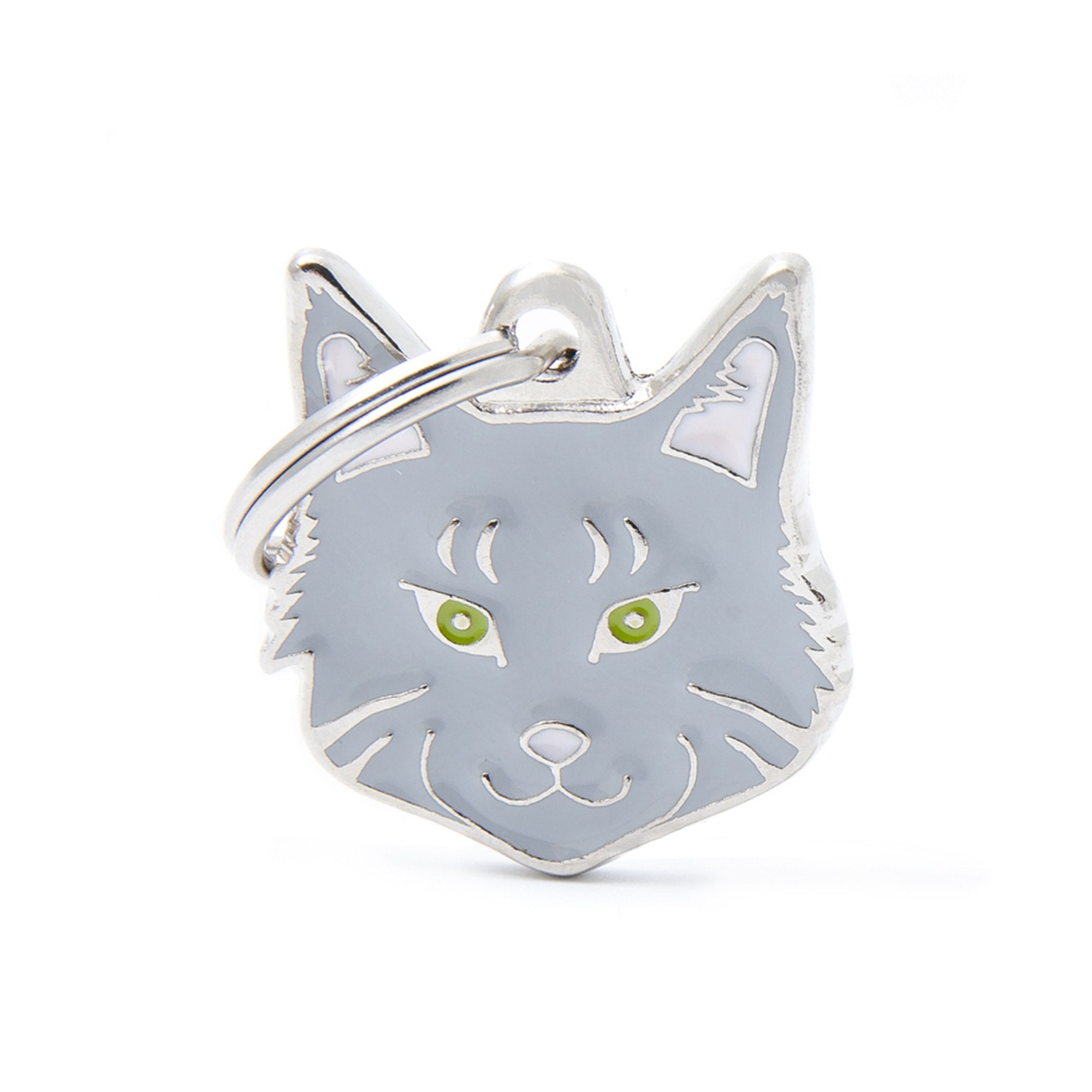 My Family Silver Tabby Maine Coon Dog I.D. Tags - 2B