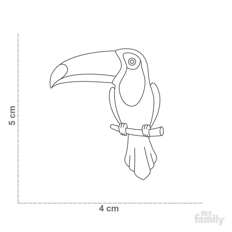 My Family Toco Toucan Dog I.D. Tags - 2B