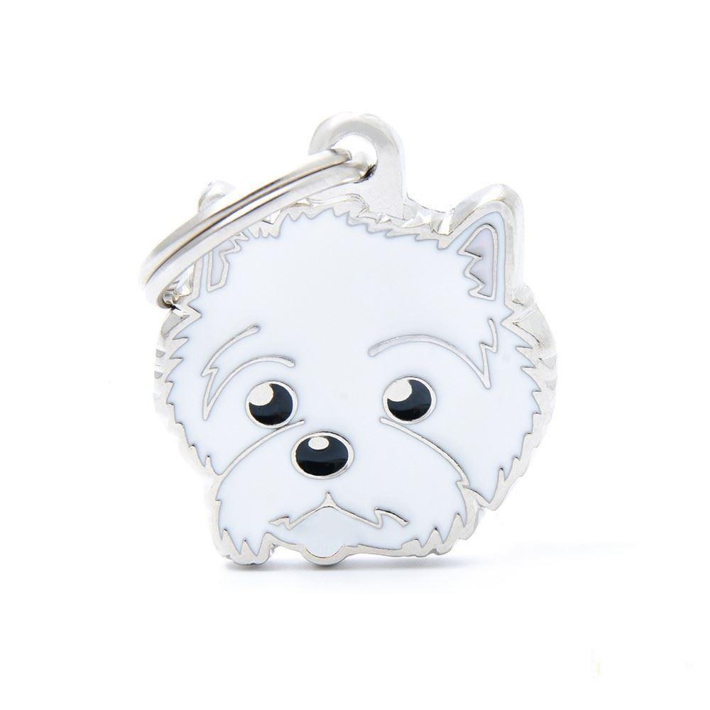 My Family West Highland White Terrier Dog I.D. Tags - 3B