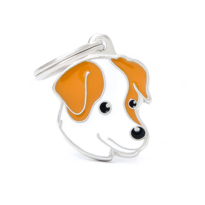 My Family White & Brown Jack Russell Pendant and Keychain