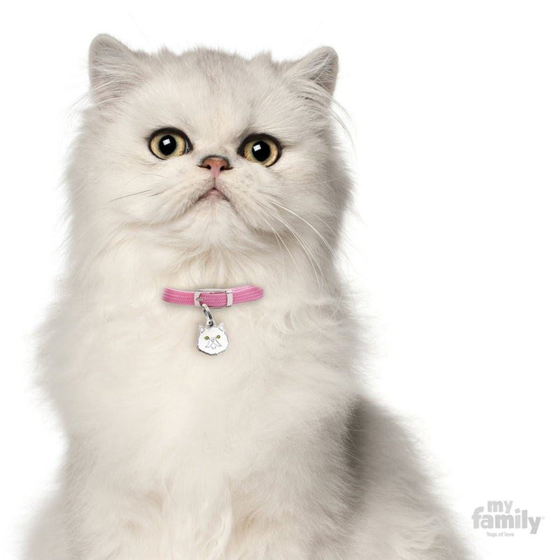 My Family White Persian Dog I.D. Tags - 2B