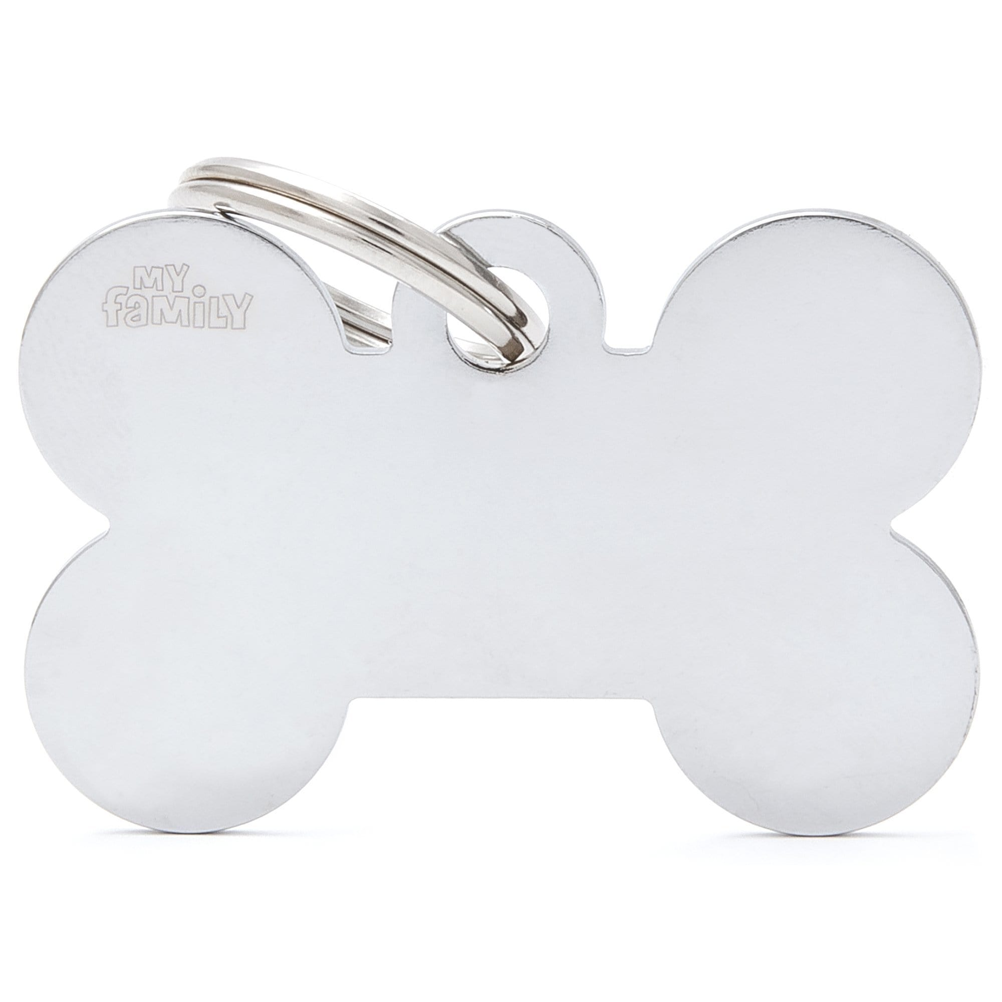 My Family XL Bone Chrome Dog I.D. Tags 4F4B