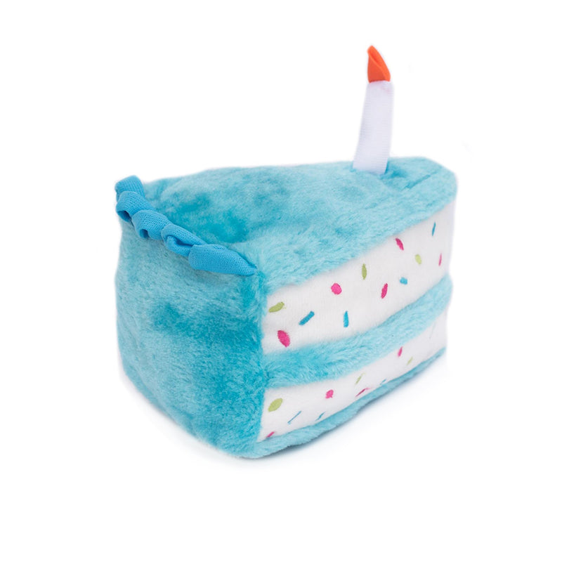 Zippy Paws Birthday Cake - Blue Dog Toys