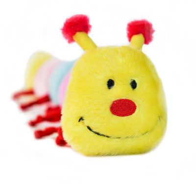 Zippy Paws Caterpillar - Large with 6 Squeakers Dog Toys