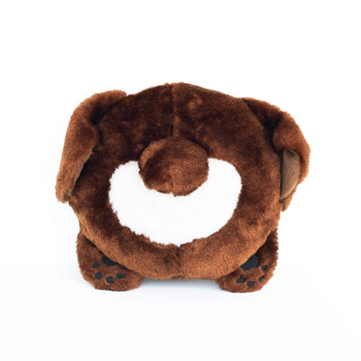 Zippy Paws Chocolate Lab Bun Dog Toys