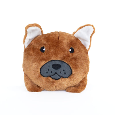 Zippy Paws French Bulldog Bun Dog Toys