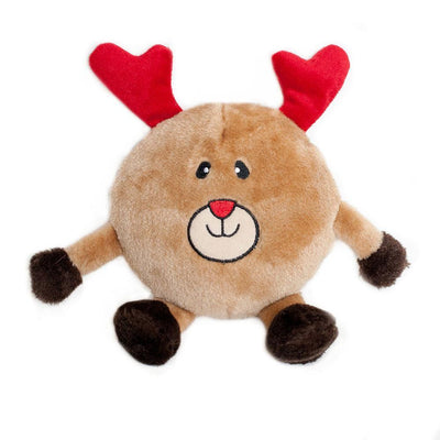 Zippy Paws Holiday Brainey - Reindeer Dog Toys