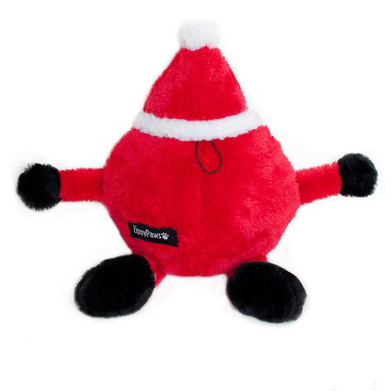 Zippy Paws Holiday Brainey - Santa Dog Toys