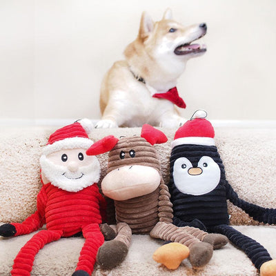 Zippy Paws Holiday Crinkle - Penguin Large Dog Toys
