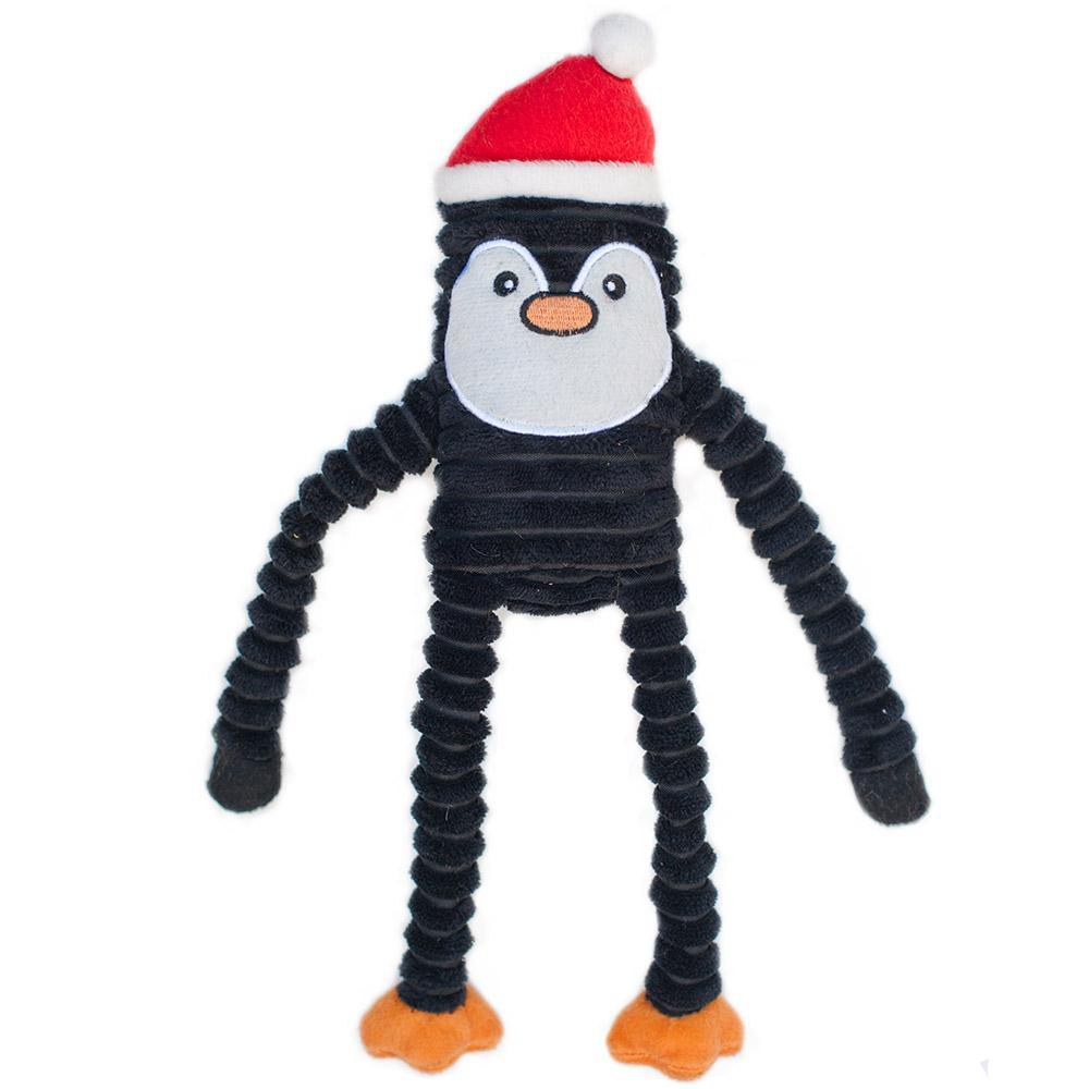 Zippy Paws Holiday Crinkle - Penguin Small Dog Toys