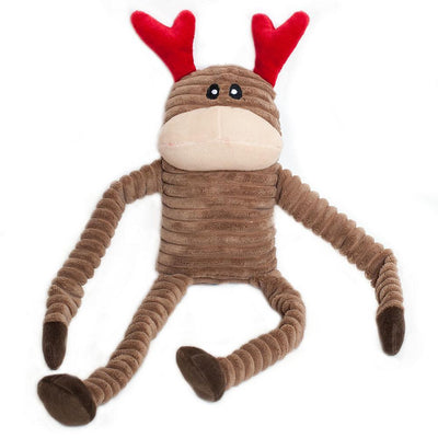Zippy Paws Holiday Crinkle - Reindeer Large Dog Toys